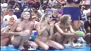 My wife and other naked women at the public show