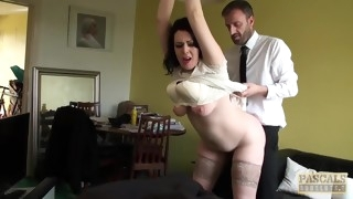 Subslut Harley Sin fluffy body made jiggle with fucking