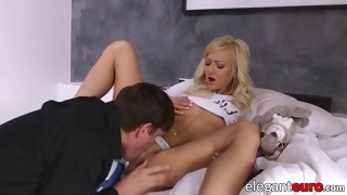 cum tasting european lady anally pounded by lover