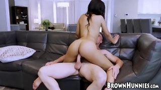 beautiful ebony diamond banks bouncing on big dick