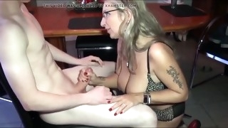 busty cougar milf seduces and fucks shy boy with big cock
