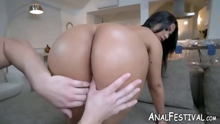 huge ass babe rose monroe has her shaved pussy nailed deep