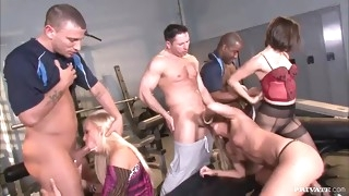 a brutal orgy with gorgeous babes