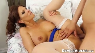 mature babe gets fucked real hard by a bbc male