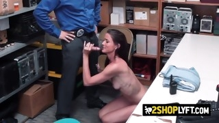 sofie gets drilled hard and deep by officer with a big cock