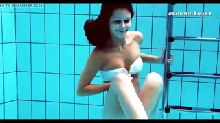 hungarian teen szilva underwater naked