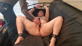 slave forced to cum
