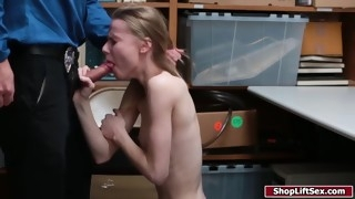 blonde thief released by officer after getting fucked