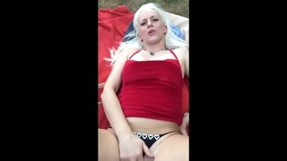 polish blonde slut outdoor fuck