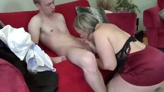 big ass milf step mom sex with young step son while his dad is gone