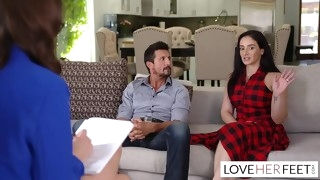 Lexi Luna Sexy Feet Therapy For Say no to Client Tommy Gunn